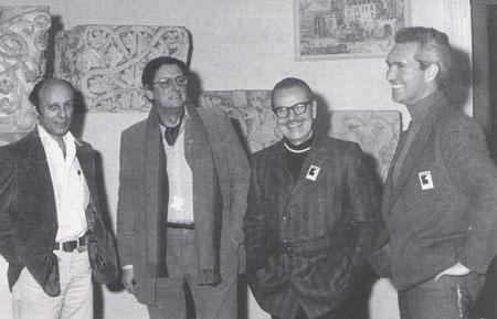 Kurtzman (à droute) et Franquin(à côté) à un des premiers festivals d'Angoulême
